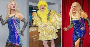 To je podívaná! Genzer, Carda a Etzler se nasoukali do dámských šatů!