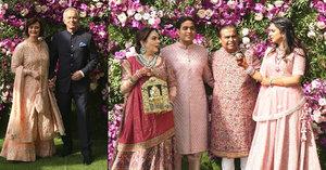 Svatba syna nejbohatšího muže Asie: V indickém oblečení dorazil i Tony Blair a šéfové světového byznysu