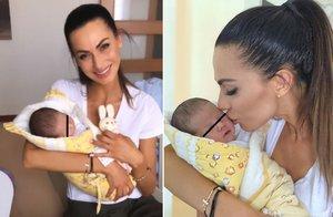 Eliška Bučková konečně předvedla vytoužené miminko! Budu tě milovat a chránit, slibuje