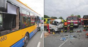Vážná nehoda na Zlínsku: Boural autobus plný cestujících!