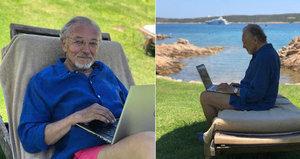 Z oslavy narozenin rovnou k moři: Na Sardinii Karel Gott pracuje!