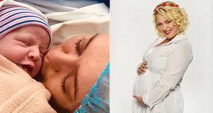 Miluše Bittnerová (41) je maminkou! Dceru musela rodit císařem