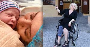 Novopečená matka Miluše Bittnerová (41): Po porodu zůstane na vozíku!