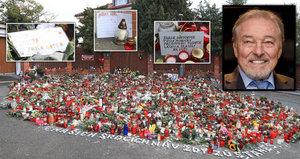 FOTOGALERIE: Do záplavy svíček před Gottovou (†80) vilou lidé ukrývají vzkazy!