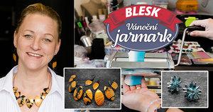 Vánoční jarmark Blesku: Petra (45) peče originální šperky v troubě! Chcete také předvést své umění?