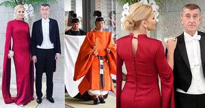 """Babišová v rudé róbě vyrazila za císařem. Babiš žasl v Japonsku: """"Velkolepé"""""""