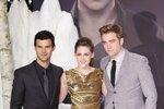 Kristen Stewart, Taylor Lautner a Robert Pattison