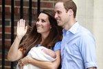 Kate, William a jejich prvorozený syn.