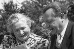 Klement Gottwald s manželkou Martou