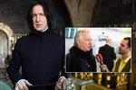 Hvězda Harryho Pottera Alan Rickman v Praze: Jsem tu poprvé a nevím, kam jít