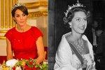 Kate ve stejné korunce, kterou s oblibou nosívala sestra Alžběty II., princezna Margaret