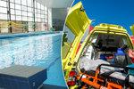 Přes 60 lidí vyhnala z bazénu neznámá látka: Dvě dívky odvezla záchranka
