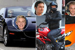Rychlé motorky nebo drsňácké kabriolety? Mrkejte, v čem si vozí pozadí slavné celebrity