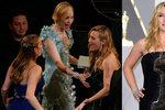 Je Kate Winslet zase těhotná? Na Oscarech jí kamarádka sahala na bříško