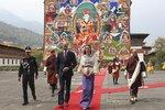 Kate a William při návštěvě Bhútánu