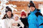 Královská rodina na zimní dovolené v Alpách