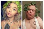 Chris Martin trefně napodobuje selfie své dcery.