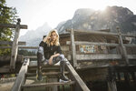 Kristýna Kubíčková u jezera Lago di Braies