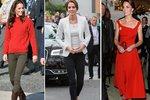 Vévodkyně Kate oblékla kousky od módních návrhářů, ale i ty z konfekce