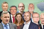 Velký přehled krajských koalic: Jermanová, Zimola i Čunek ve vedení