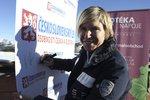 Olympijská vítězka z Turína Kateřina Neumannová na lyžařské exhibici v italském resortu Val di Fiemme