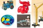 Retro hračky jsou zpět! Nafukovací slon, beruška na klíček i igráček