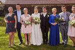 Foto ze svatby Oty a Hedviky, která v seriálu proběhne za tři týdny.