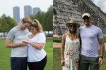 Haley s přítelem v den zásnub a rok poté
