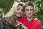 Machálková se synem
