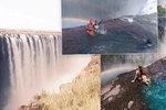 Kvůli perfektní fotce riskují život! Turisté se fotí na okraji Viktoriiných vodopádů