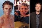 Tom Cruise v devadesátých letech, Richard Gere v roce 1999 a letošní vítěz ankety Blake Shelton.