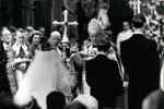 Svatba princezny Margaret. Poprvé mohli lidé sledovat svatební obřad v přímém přenosu.