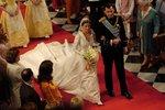 Svatba novinářky Letizie se španělským princem Felipem.