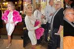 Blondýna Myslivcová (23) a její chlebodárce Charouz (63): Poprvé na akci spolu! Představil ji přátelům