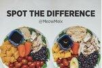 Poznáte rozdíl? Jídlo nalevo obsahuje 392 kalorií. Jídlo napravo 776 kalorií.