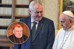 """Zeman oroduje u papeže za Duku: """"Čestný člověk, neochvějný bojovník za pravdu"""""""