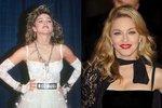 Madonna v 80. letech a nyní.