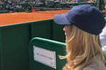Tereza Maxová si slunečný den užila na tenisových kurtech v Monte Carlu.