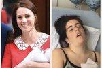 Kate Middleton vs. obyčejné matky: Ženy sdílely své fotografie po porodu