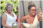 Do svých svatebních šatů by se dnes Shandra vešla dvakrát.