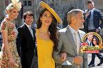 Celebrity na svatbě Harryho a Meghan: Zářící Clooney i ledová Victoria Beckham