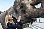 Zorka Hejdová se slonem