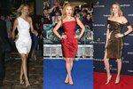 Cameron Diaz, Scarlett Johansson i Kate Upton nosí šaty, které padnou jejich postavě.