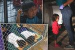 """Děti v kotcích, pláč a zoufalé volání """"mami"""". Trump děsivé podmínky pro migranty brání"""