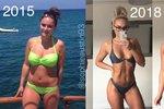 Patnáct kilogramů shodila už během prvních dvanácti týdnů.