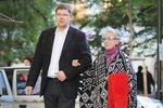 Meda Mládková toto září oslavila 99. narozeniny, na snímku s ředitelem správní rady Musea Kampa Jiřím Pospíšilem