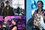 Premiéra Fantastických zvířat: Leichtová s miminkem na krku, Peroutka tančil s brunetou