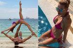 Mašlíková s manželem v Emirátech řádí jako v začátcích! Krkolomné pózy na pláži