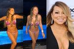 Královna jojo efektu Mariah Carey: Opět štíhlá, tak hurá do plavek!