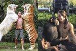 Novodobý Tarzan! Muž chce dokázat, že divoká zvířata nejsou nebezpečná.
